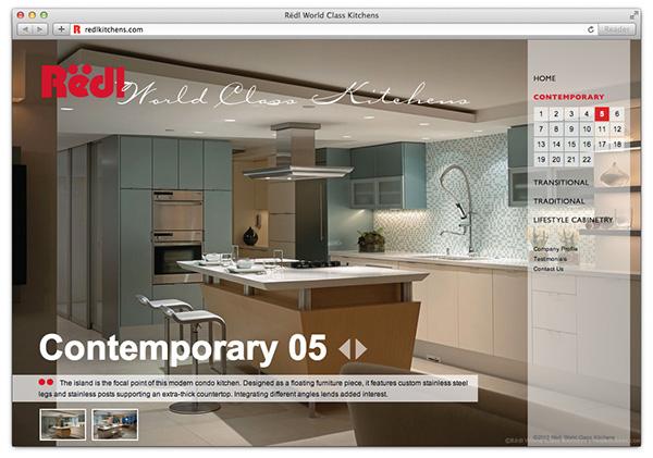 Rëdl World Class Kitchens website on Behance