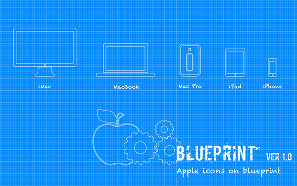 Apple blueprint psdvector on behance malvernweather Image collections