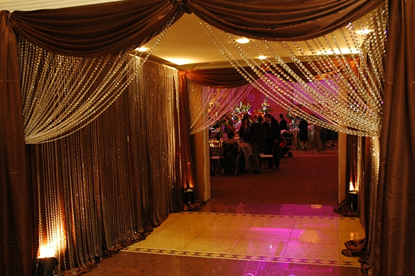 Custom entrance for a wedding the terrace banquet hall for Terrace entrance design