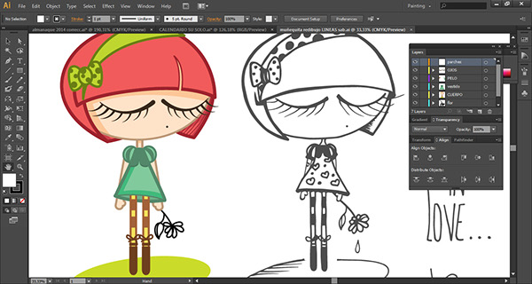 mary poppins ilustracion diseño gráfico