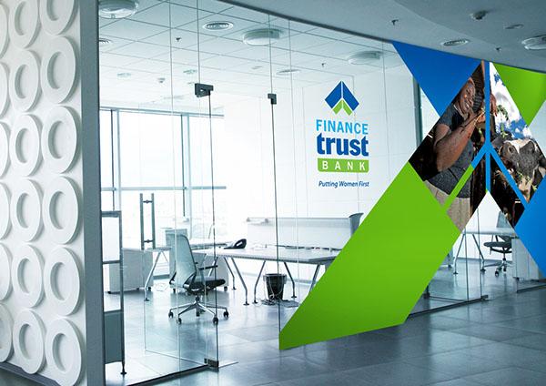 Finance trust bank indoor outdoor branding on behance for Office branding ideas