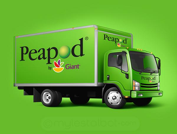 Peapod Truck on Behance