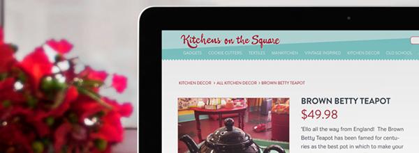 Kitchens On The Square Website Design on SCAD Portfolios