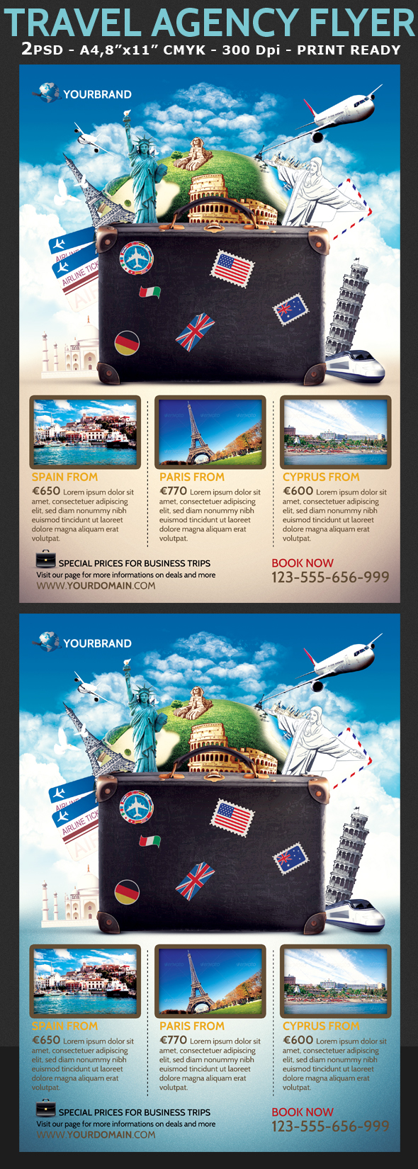Travel Agency Promotional Flyer Template on Behance – Promotional Flyer Template