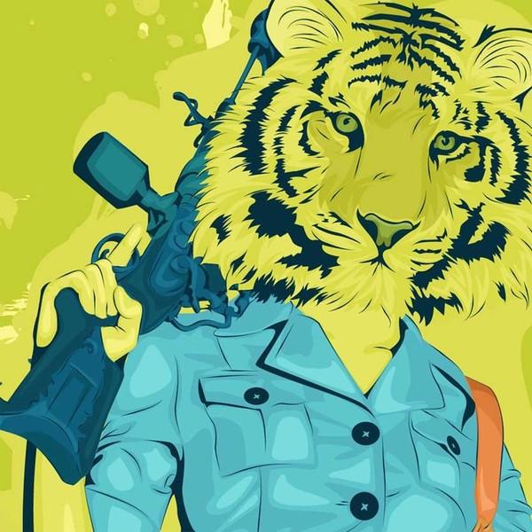 tiger woman fury surreal
