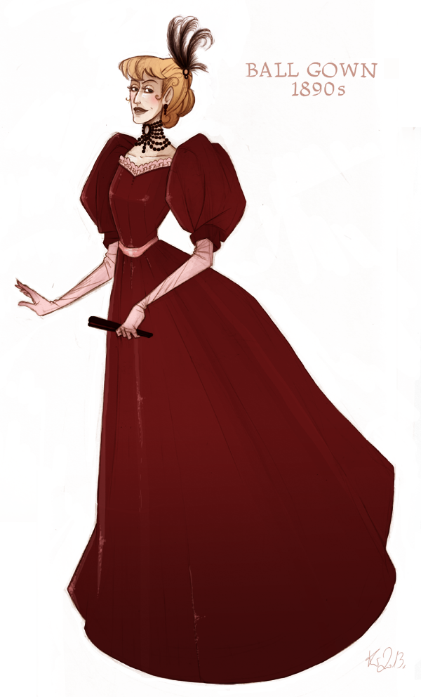 Character Design History : Red ball gown