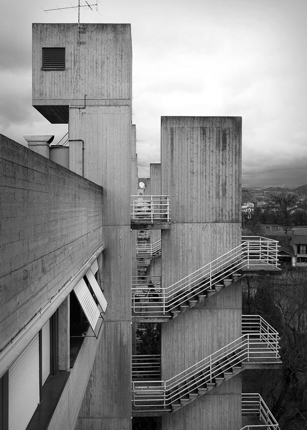 Giancarlo de carlo villaggio matteotti winter view on for Architecture 1960