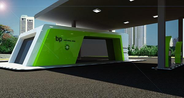 Bp gas station design on behance for Gas agency interior design