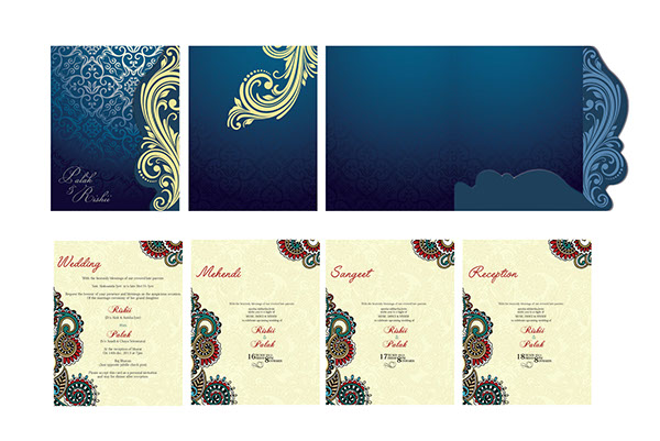 Indian Wedding Cards Design Royal Luxery Creative On Behance