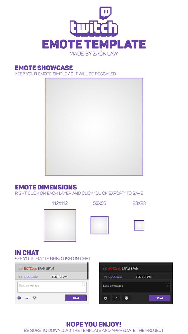 twitch emote template free on behance. Black Bedroom Furniture Sets. Home Design Ideas