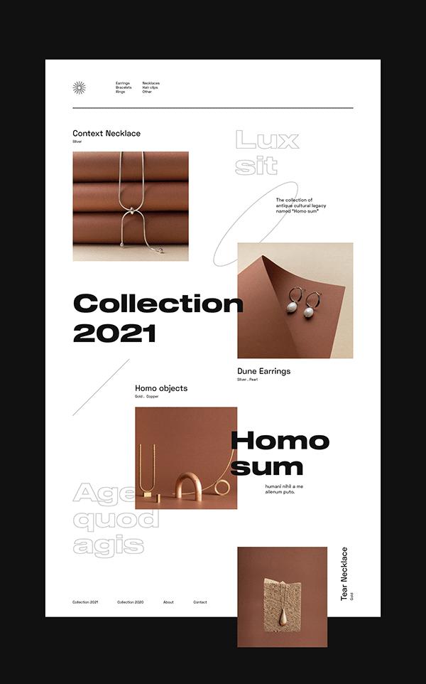 Web design for jewelry brand