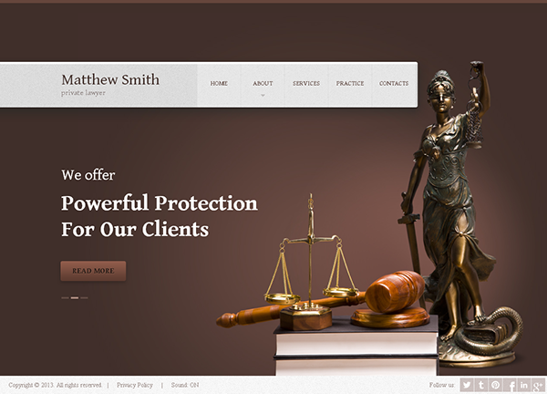 matthew smith private lawyer html5 template 300111642 on behance