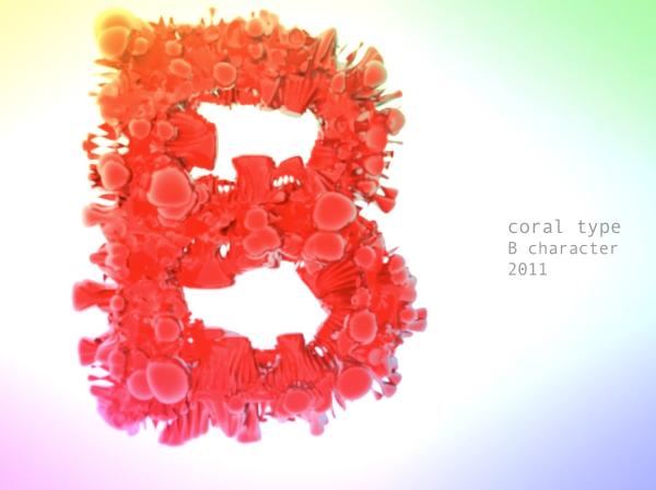 Txaber coral typography