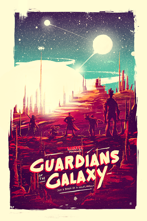 Guardians of the galaxy movie poster t-shirt