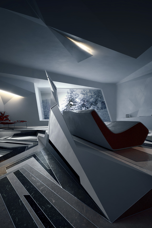 Deconstructivism Furniture Interior Design ~ Deconstruction on behance