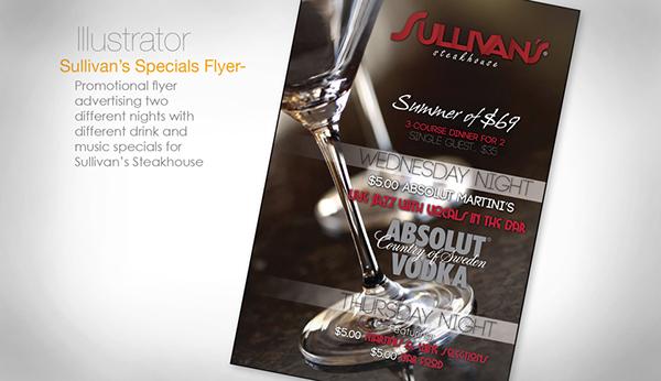 Sullivan's flyer Martini