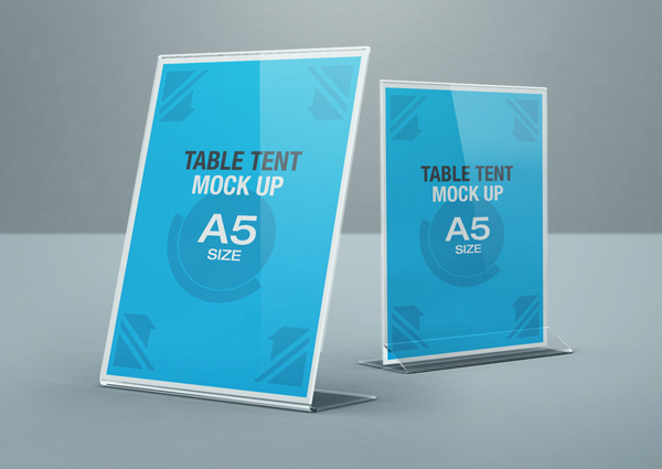 table tent mock up on behance