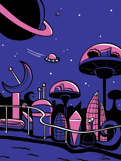 Space  alien planet futuristic