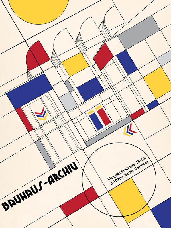 Bauhaus poster on behance for Architecture bauhaus