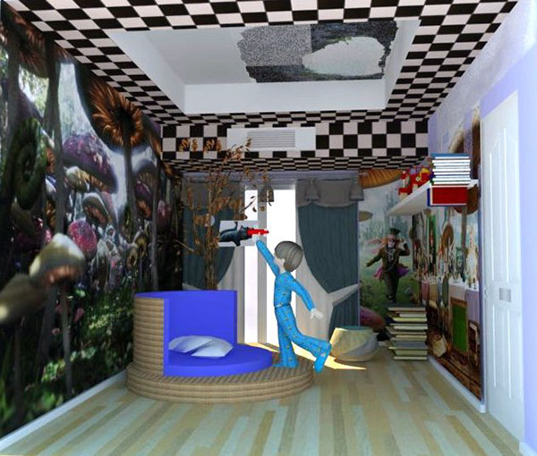 alice in wonderland bedroom on behance