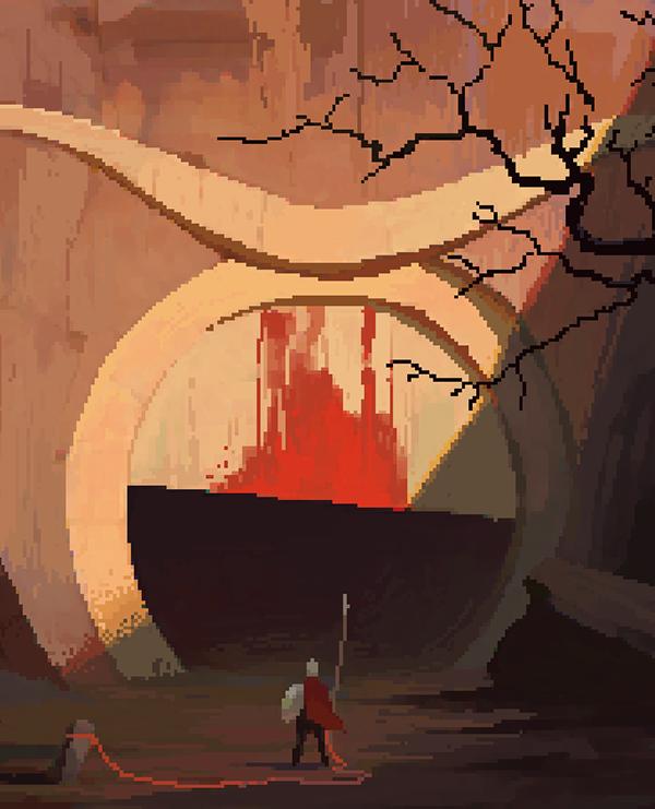 game splash screen Pixel art