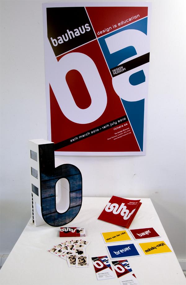bauhaus Exhibition  class museum tickets postcards book model poster