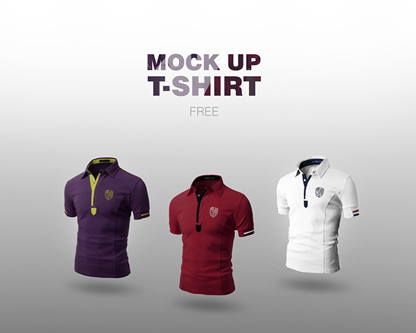 free mock up t shirt 3 colors on behance