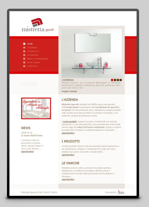 Mistretta Specchi Da Bagno.Websites On Behance