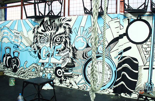 Mural Designed And Painted For CrossFit Guayaquil By QuingaR