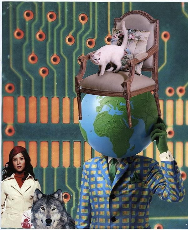 collage scissors Glue surrealism surrealist popart ridicoulous Hilarious psychedelic weird kitsch
