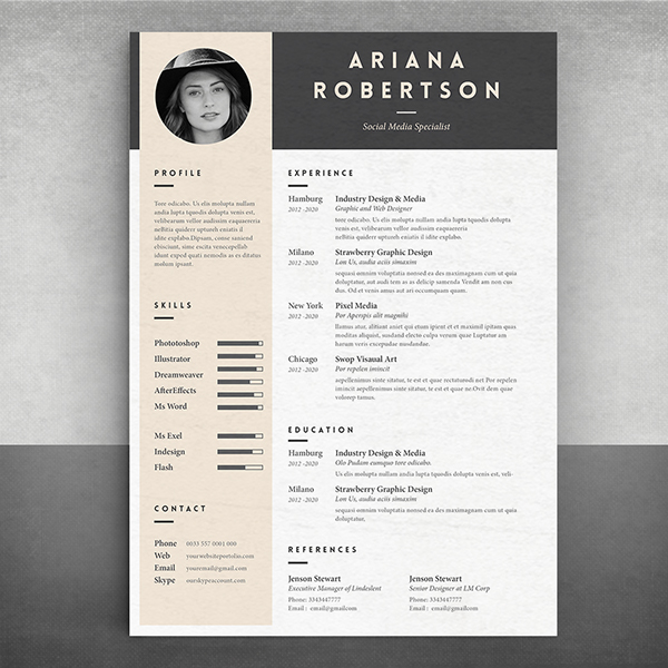 resume template iii on pantone canvas gallery