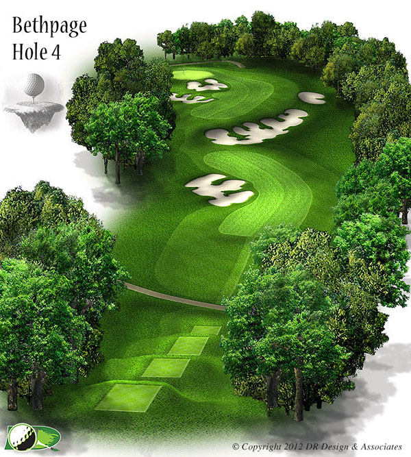 Golf Course Hole Graphics on Behance