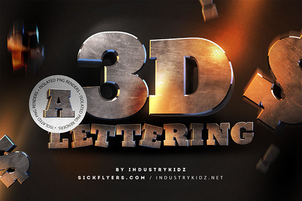 Download Free 3D Typography on Behance