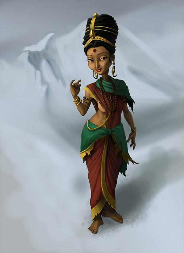 art digital Hindu goddess