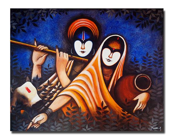 Paintings,Radha Krishna On Behance
