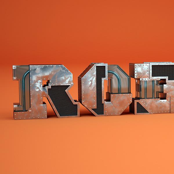 metal metalic glass type Typographie Typeface