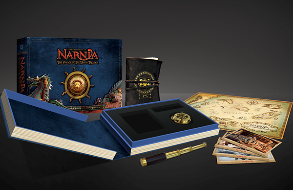 Narnia,package,blu ray,chronicles,map,nautical