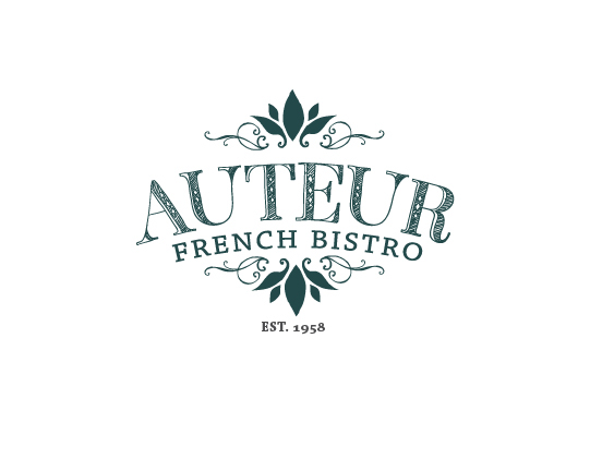 Logo, Stationery Design: Auteur French Bistro on Behance