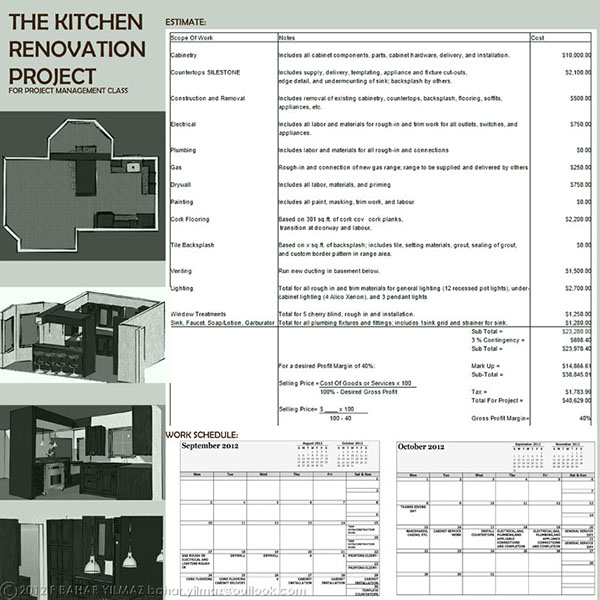 Project Management Kitchen Reno On Behance