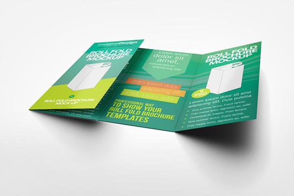 Roll Fold Brochure Mockup On Behance