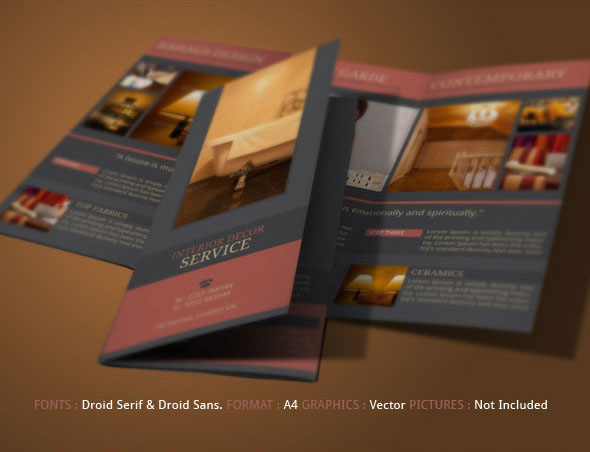 Interior Design Brochure Template | Modern Design On Behance