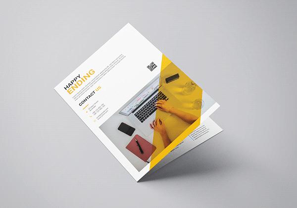 Unique Bi-Fold Corporate Brochure