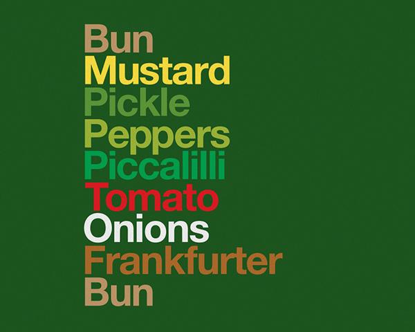 helvetica dschwen Burgervetica Type Sandwiches type color Sandwiches