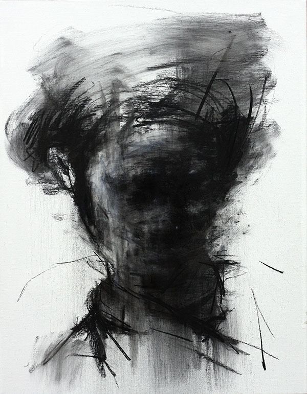 [109] untitled charcoal on canvas 53.2 x 41 cm 2013 on Behance