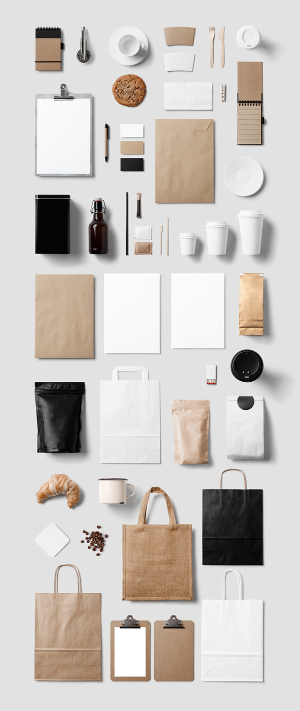 Coffee restaurant stationery mock up on behance for Food bar mockup