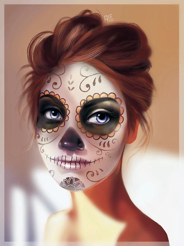 La catrinas se aguantan on behance - Maquillage dia de los muertos ...