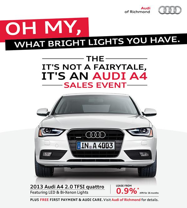 It's Not A Fairytale, It's An Audi A4 Sales Event On Behance