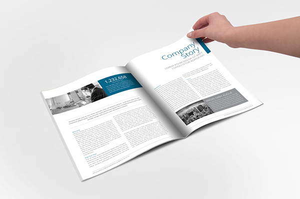 Annual Report Indesign Template On Wacom Gallery