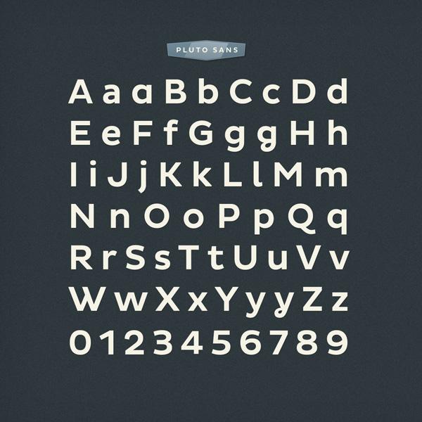 font fonts HVD Typeface Pluto Hannes von Doehren sans sans serif geometric graphic design HVD Fonts Pluto sans type family