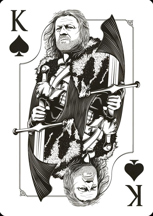 Trónok Harca - Stark - pikk király